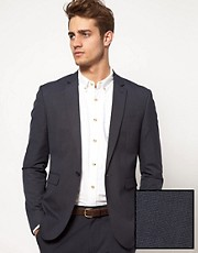 ASOS Slim Fit Suit Jacket in Blue