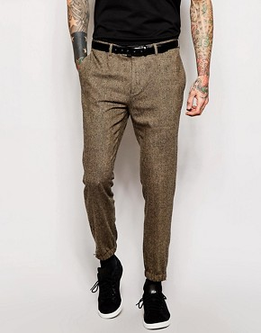 ASOS Slim Fit Smart Joggers in Tweed