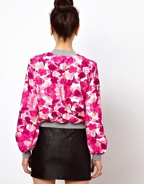 Image 2 ofPaprika Floral Print Bomber Jacket