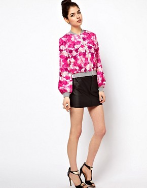 Image 4 ofPaprika Floral Print Bomber Jacket