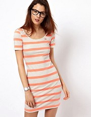 Lacoste L!Ve Striped Dress