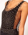 Image 3 ofASOS Top With Allover Cobweb Embellishment