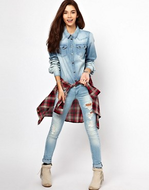 Image 4 ofOnly Denim Western Shirt