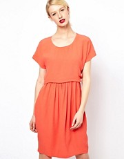 See by Chloe Cap Sleeve Dress with Tulip Skirt