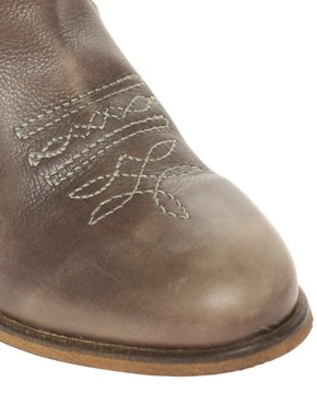 Image 3 ofASOS AGNES Leather Cowboy Boots