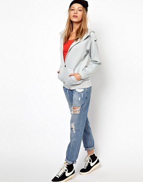 Image 4 ofNike Textured Hoodie With Contrast Lining