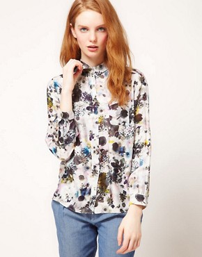 Image 1 ofPaul By Paul Smith Watercolour Print Shirt