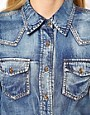 Image 3 ofVila Bleached Denim Shirt