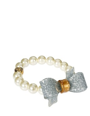 Image 1 ofTed Baker Bow And Pearl Bracelet