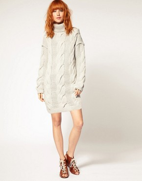 Image 4 ofDiesel Cable Knit Jumper Dress