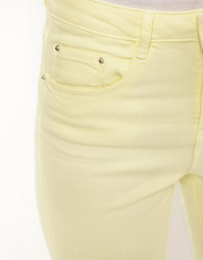 Image 3 ofASOS Ridley Supersoft High Waisted Ultra Skinny Jeans in Lemon