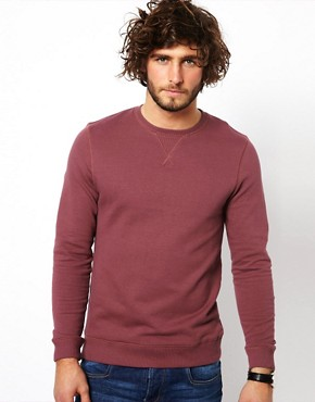 Image 1 ofASOS Sweatshirt With Crew Neck