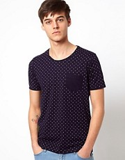 Selected T-Shirt With Polka Dot Print