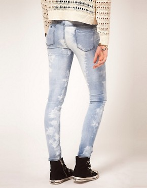 Image 2 ofASOS Skinny Jeans in Ice Tie Dye #4