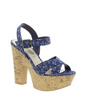 New Look EC Stout 2 Printed Platform Sandals