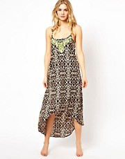 River Island Luffield Animal Maxi Beach Dress