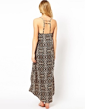 Image 2 ofRiver Island Luffield Animal Maxi Beach Dress