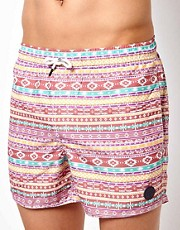 Shorts de bao con diseo azteca de Native Youth