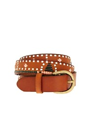Maison Scotch Leather Stitch Belt