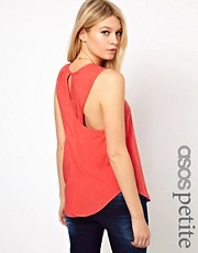ASOS PETITE Exclusive Cross Back Pocket Top