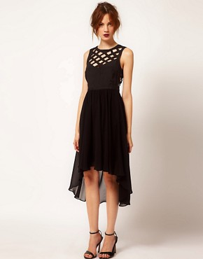 Image 1 ofWarehouse Cutwork Hi Lo Dress
