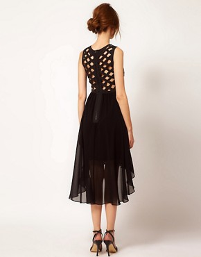 Image 2 ofWarehouse Cutwork Hi Lo Dress