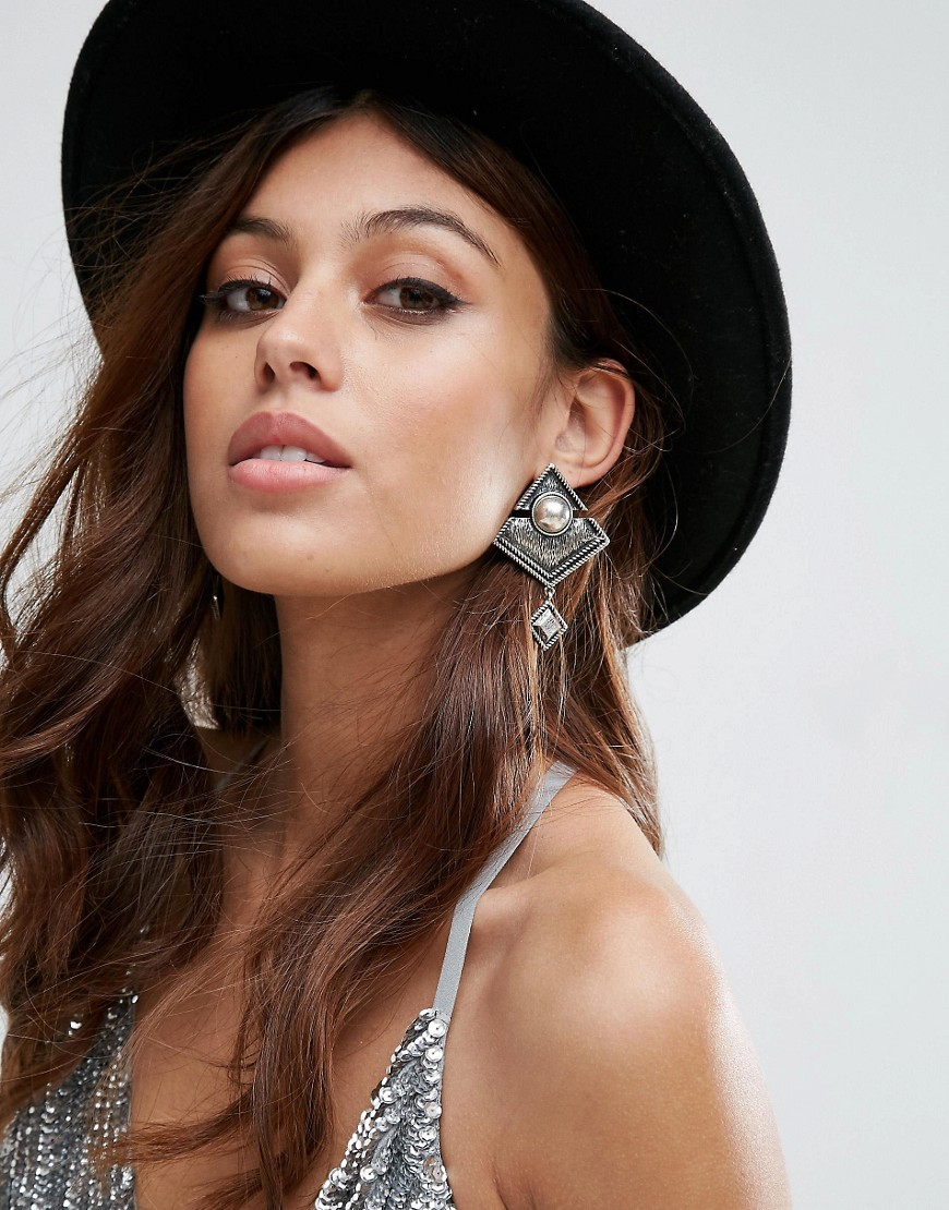 ASOS Festival Chandelier Earrings - Silver
