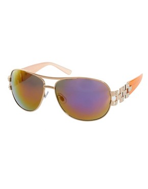 Image 1 ofRiver Island Sienna Aviator Sunglasses
