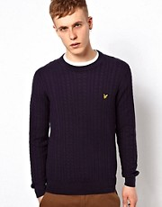 Lyle &amp; Scott Vintage Jumper with Cable Knit