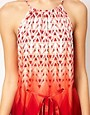 Image 3 ofWarehouse Zig Zag Ombre Halter Dress