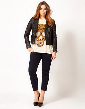 Image 4 of ASOS CURVE T-Shirt With Floral Skull