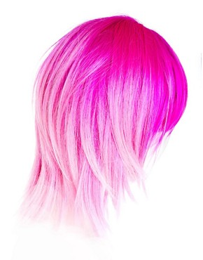 Image 4 of Annabelle's Wigs Pink Dip-Dye Layered Wig