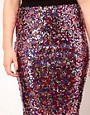 Image 3 ofASOS CURVE Multi Sequin Pencil Skirt