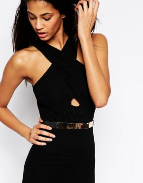 Image 3 ofASOS Plate Detail Elastic Waist Belt