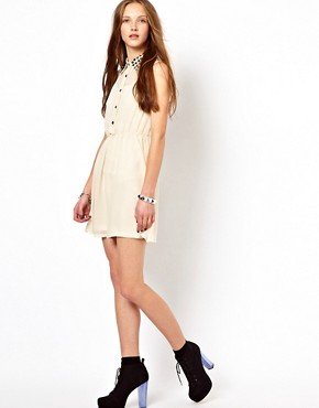 Image 4 ofGoldie Shirt Dress With Studded Collar
