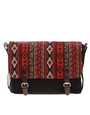 ASOS Aztec Flap Canvas Satchel