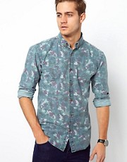 Selected Denim Camo Shirt