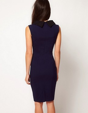 Image 2 ofHybrid Lace Collar Pencil Dress