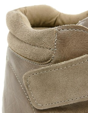 Image 2 of ASOS DOUBLE TROUBLE Wedge Trainers with Velcro and Suede Detail