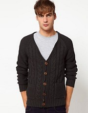 Jack &amp; Jones Cardigan with Cable Knit