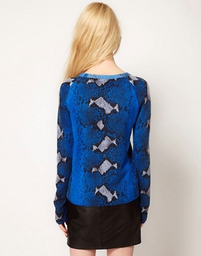 Image 2 ofEquipment Sloan Cashmere Crew in Python Print