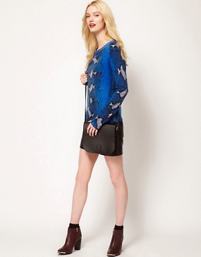 Image 4 ofEquipment Sloan Cashmere Crew in Python Print