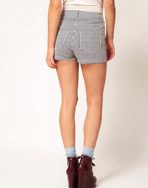 Image 2 ofMarkus Lupfer Narrow Stripe Fitted Shorts