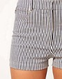 Image 3 ofMarkus Lupfer Narrow Stripe Fitted Shorts