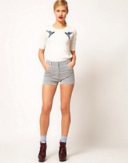 Markus Lupfer Narrow Stripe Fitted Shorts