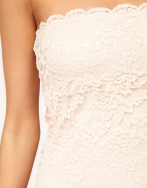 Image 3 ofASOS Bandeau Dress in Lace