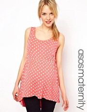 ASOS Maternity Exclusive Spot Skater Tank