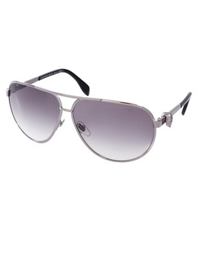 Image 1 ofAlexander McQueen Aviator Sunglasses