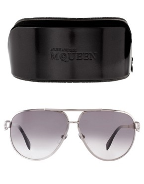 Image 2 ofAlexander McQueen Aviator Sunglasses