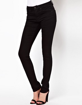 Image 1 ofASOS Supersoft Black Skinny Jeans